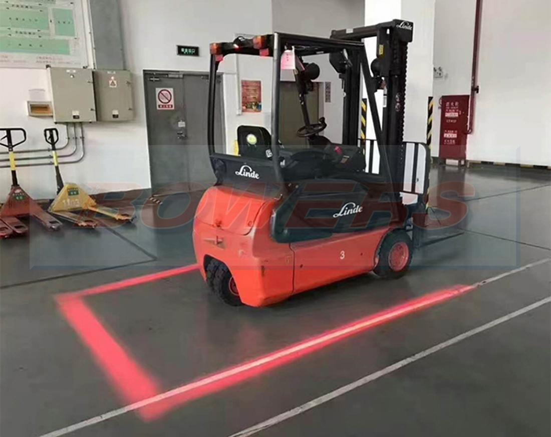 Red Led Forklift Perimeter Safety Zone Warning Light Lamp