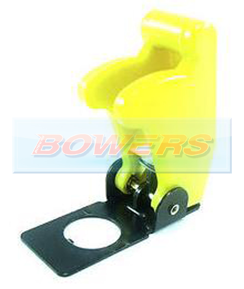 Yellow Aircraft/Missile Style Toggle Switch Cover - H Bowers