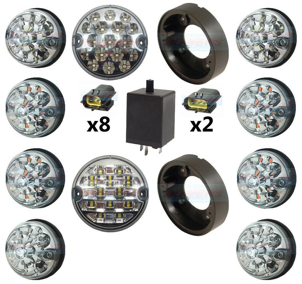 Land Rover Defender Clear 10 Led Lamp Light Complete Upgrade Kit Rdx Lights 4
