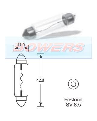 Lucas Bulb 12v 10w Festoon LLB264 - H Bowers