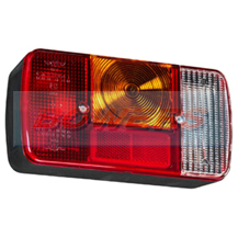 Sim 3127 12v/24v Rear Offside Universal Combination Trailer Tail Lamp/Light Unit