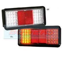 Sim 3159 12v 24v Universal Clear Lens LED Rear Combination Tail Lamp Light