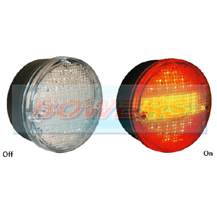 Sim 3164 12v/24v Universal Clear LED Rear 140mm Combination Hamburger/Cheeseburger Tail Lamp/Light