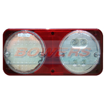 Sim 3165 12v/24v Rear Nearside Universal Clear LED Combination + Fog & Reverse Lamp/Light