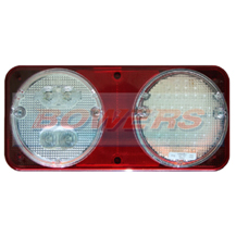 Sim 3165 12v/24v Rear Offside Universal Clear LED Combination + Fog & Reverse Lamp/Light