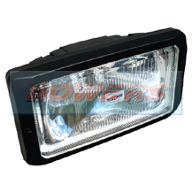 "Sim 3226 12v/24v 9.5"" Rectangular Spot/Driving Lamp/Light With Side/Position Light"