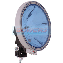 "Sim 3227 12v/24v 9"" Round Spot/Driving Lamp/Light With Blue Lens & Side/Position Light"