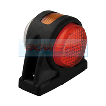 LED Autolamps 1005RWM 12v/24v Red/White/Amber Outline End & Side Marker Lamp/Light