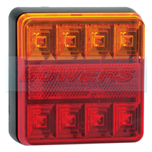 LED Autolamps 101BAR 12v Square Rear LED Combination Light Lamp