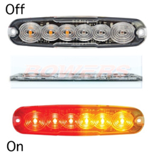 LED Autolamps 12ARM 12v/24v Universal Slim Line LED Rear Combination Tail Light Lamp