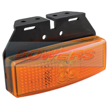 LED Autolamps 1491AM 12v/24v Amber Side Marker Lamp/Light With Bracket
