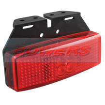LED Autolamps 1491RM 12v/24v Red Rear Marker Lamp/Light With Bracket
