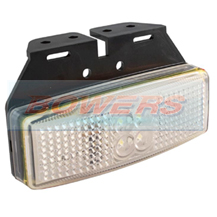 LED Autolamps 1491WM 12v/24v White Front Marker Lamp/Light With Bracket