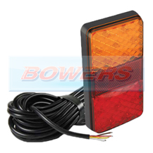 LED Autolamps 150ARME10 12v/24v Slim Rear LED Combination Stop/Tail/Indicator Trailer Lamp/Light +10m Cable