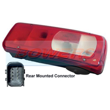 Genuine Vignal 155150 LC8 Rear Right Hand Offside Combination Tail Lamp/Light For DAF CF/XF 2012-> With Reverse Alarm (Rear Connector)