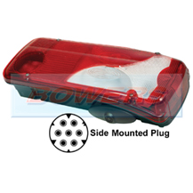 Genuine Vignal 156790 LC8 Rear Right Hand Offside Combination Tail Lamp/Light Unit + Reverse Alarm For Scania Series P & R