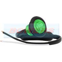 12v/24v Small Round Green LED Button Marker Lamp/Light