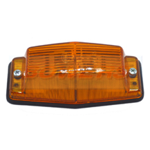 Hella Retro Danish Style Amber Double Burner Marker Light Lamp
