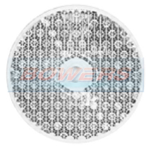 White/Clear 60mm Round Screw On Front Reflector