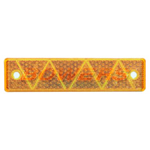 Amber 180mm x 43mm Rectangular Screw On or Stick On Side Reflector