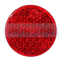 Red 43mm Round Stick On Rear Reflector