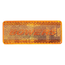 Amber 70mm x 30mm Rectangular Stick On Side Reflector