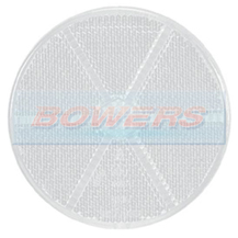 White/Clear 60mm Round Stick On Front Reflector