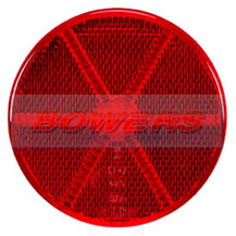 Red 60mm Round Stick On Rear Reflector