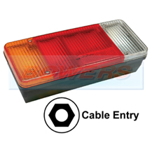 Sim 3121 Rear Left Hand Nearside Combination Tail Lamp Light Unit