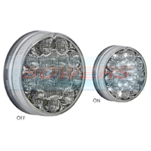 Sim 3188 12v/24v Clear LED 90mm Reverse Lamp/Light
