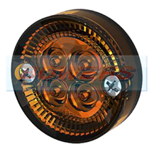 Sim 3194 12/24v Amber LED Round Side Marker Light Lamp