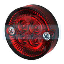 Sim 3194 12/24v Red LED Round Rear Marker Light Lamp