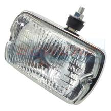Sim 3210 Stainless Steel Rectangular Front Fog Lamp/Light Peugeot 205 GTI CTI 106 306 Mi16
