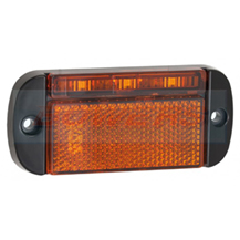 LED Autolamps 44AME 12v/24v Amber LED Reflective Side Marker Lamp/Light