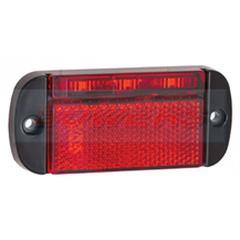 LED Autolamps 44RME 12v/24v Red LED Reflective Rear Marker Lamp/Light