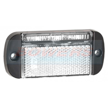 LED Autolamps 44WME 12v/24v White LED Reflective Front Marker Lamp/Light