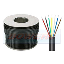 7 Core Cable 6x14/0.30mm 1mm² (8.75A) & 1x 28/030mm 2mm² (17.5A) 30m Roll