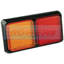 LED Autolamps 80BARME 12v/24v Rectangular Rear LED Double Combination Stop/Tail/Indicator Trailer Lamp/Light