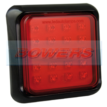LED Autolamps 80FME 12v/24v Square Rear LED Fog Trailer Lamp/Light