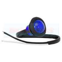 12v Small Round Blue LED Button Marker Lamp/Light