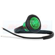 12v Small Round Green LED Button Marker Lamp/Light