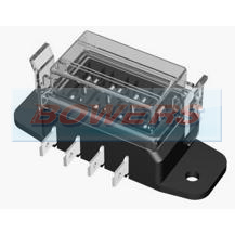 4 Way Slim Line Heavy Duty Standard Blade Fuse Box With Clip On Cover