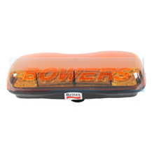 Britax A481.00.LDV 12v/24v Single Bolt On Mini LED Flashing Amber Beacon Bar Lightbar