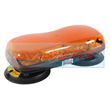 Britax A484.00.LDV 12v/24v Magnetic Mount Mini LED Flashing Amber Beacon Bar Lightbar