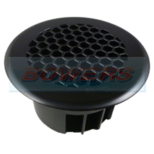 Large Round Black Floor Vent For Vans, Motorhomes, Boats Coaches