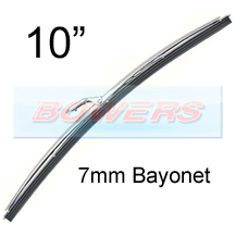 "10"" Stainless Steel Classic Car Wiper Blade (7mm Bayonet Fitting)"