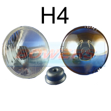 "5 3/4"" 5.75"" Classic Car Sealed Beam Outer Headlight/Headlamp Halogen H4 Conversion (Without Pilot)"