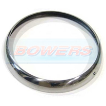 "Screw On Chrome Headlight Trim Rim Ring For Classic Car 7"" Headlights"