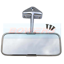 Classic Mini Stainless Steel/Chrome Interior Rear View Mirror