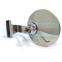 "4"" (105mm) Inch Clamp On Stainless Steel Round Overtaking Peep Quarter Light Door Mirror"